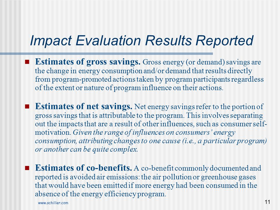 Impact Evaluation Results Reported