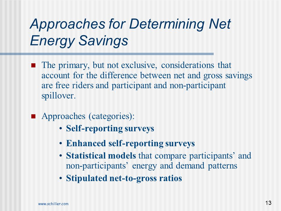 Approaches for Determining Net Energy Savings