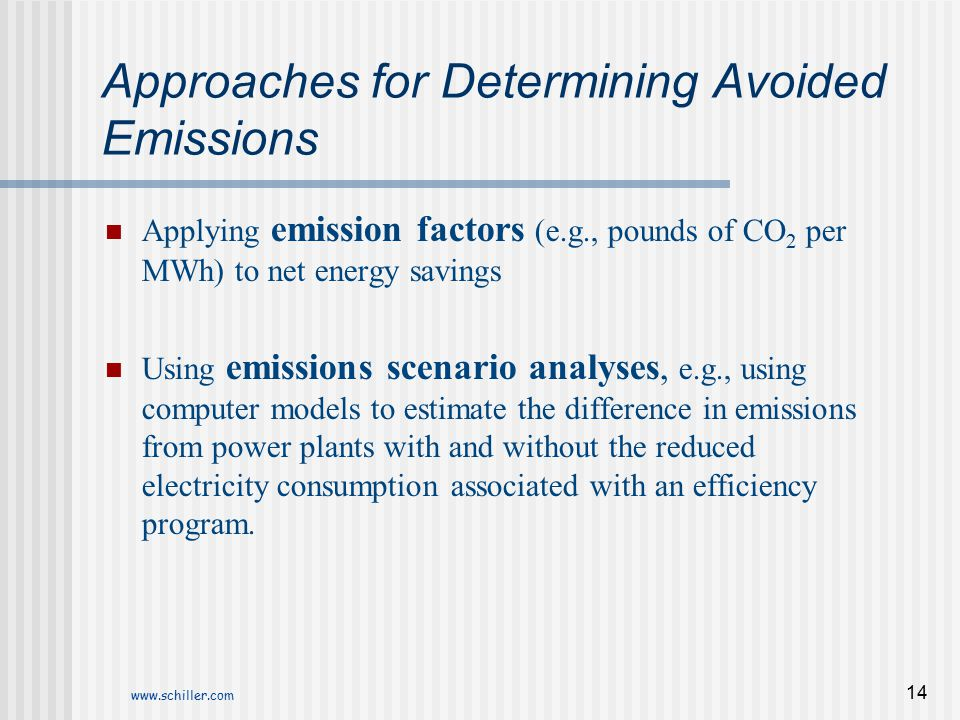 Approaches for Determining Avoided Emissions