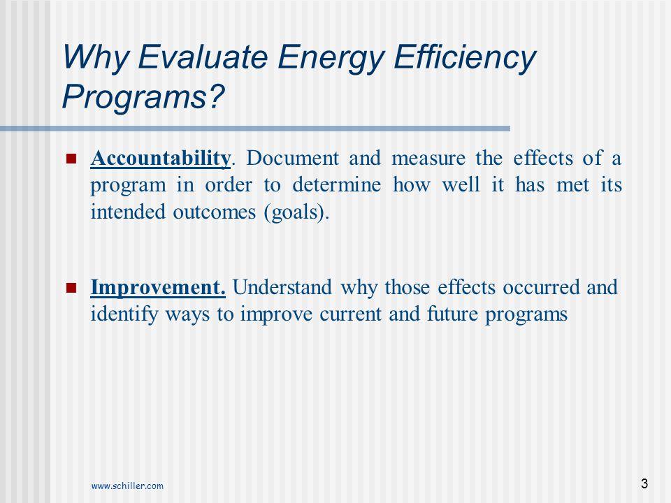 Why Evaluate Energy Efficiency Programs