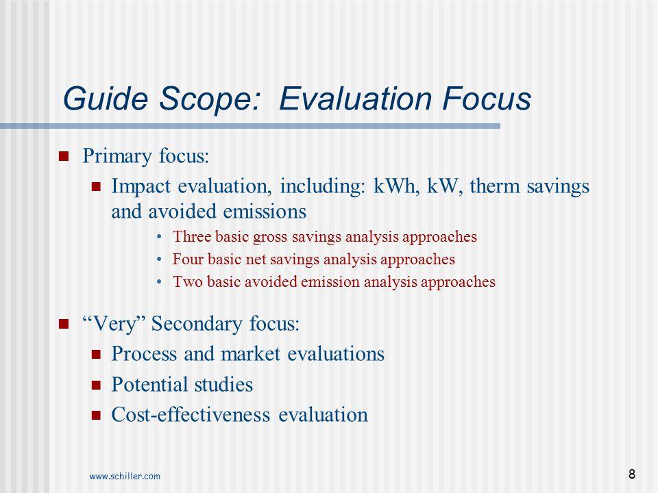 Guide Scope: Evaluation Focus
