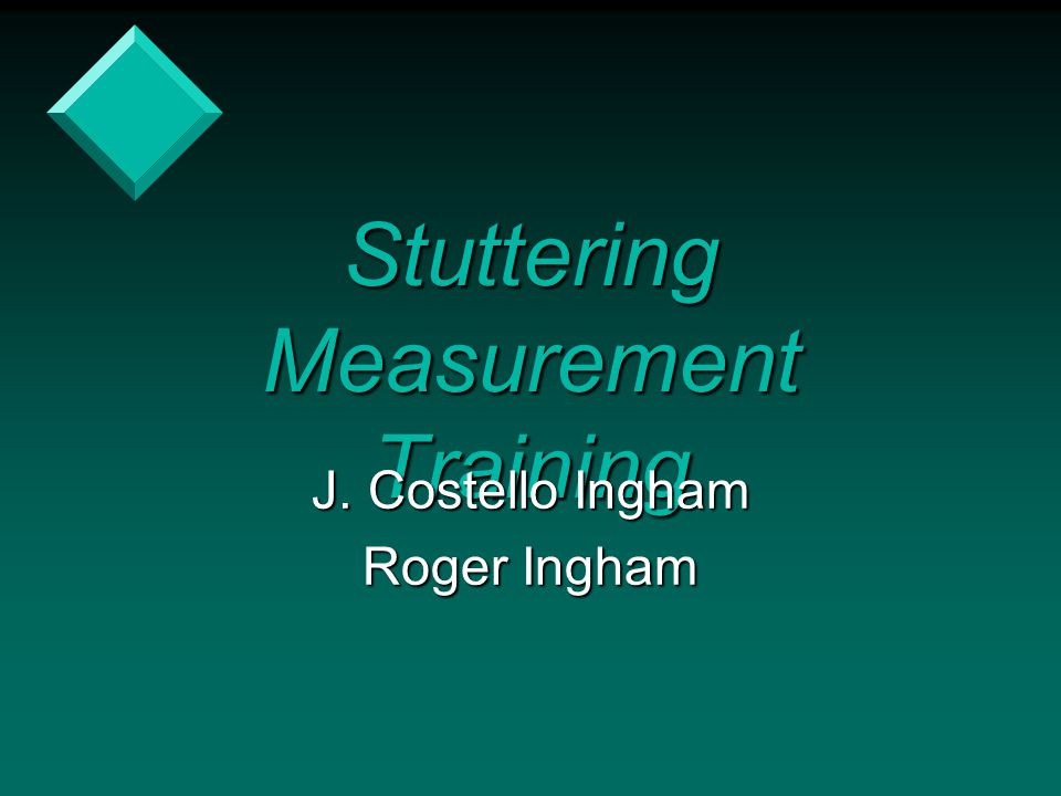 Stuttering Measurement Training