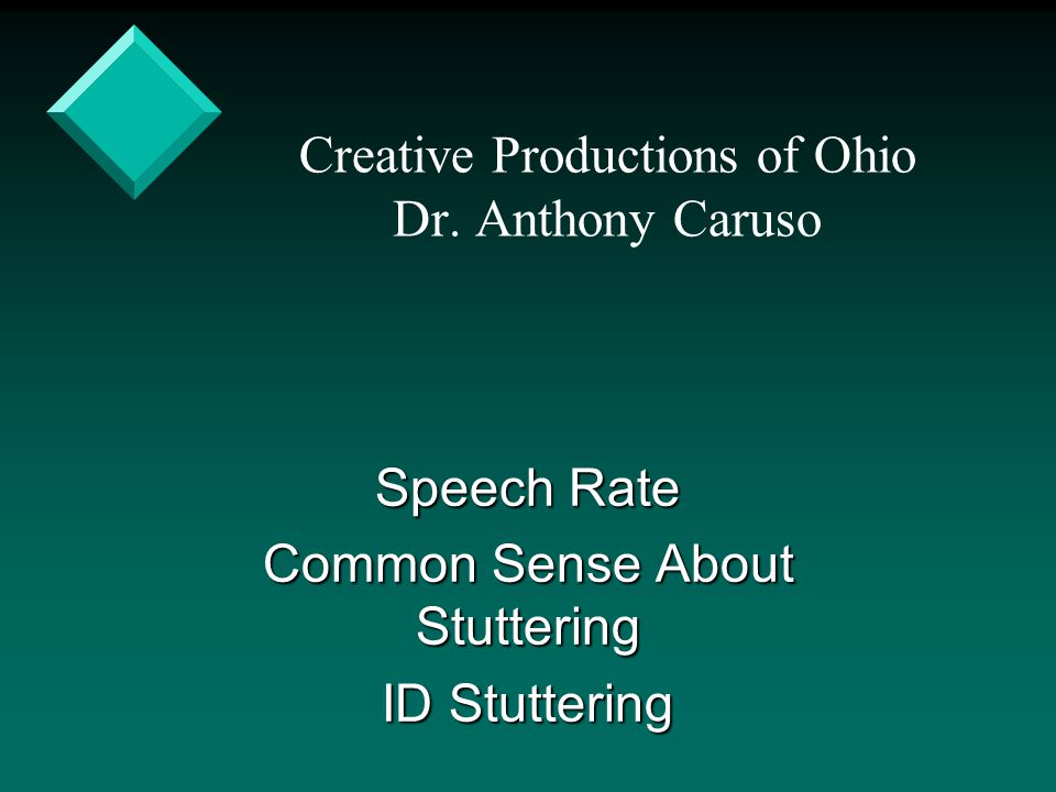 Creative Productions of Ohio Dr. Anthony Caruso