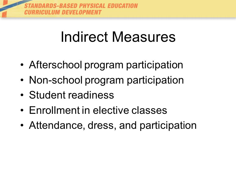 Indirect Measures Afterschool program participation