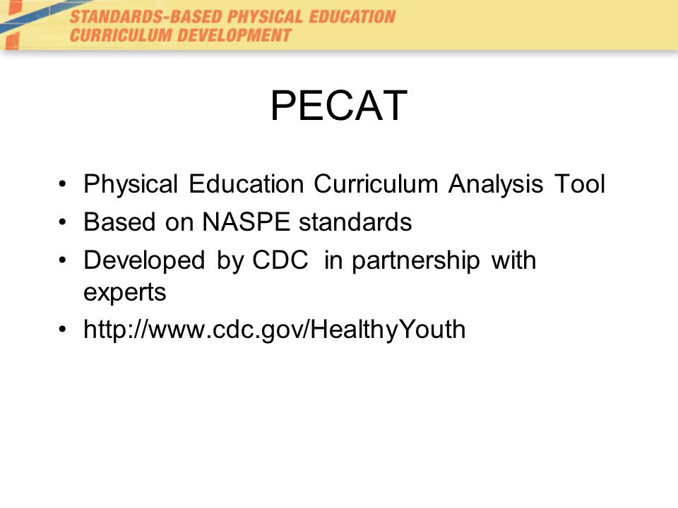 PECAT Physical Education Curriculum Analysis Tool