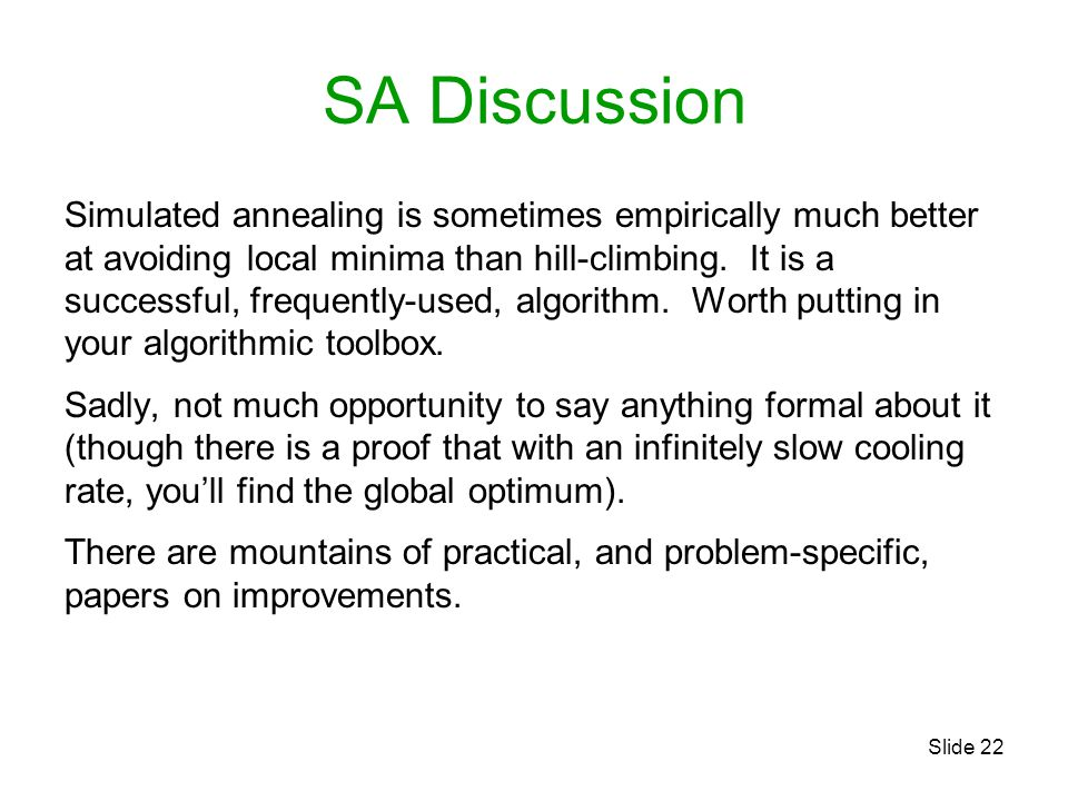 SA Discussion