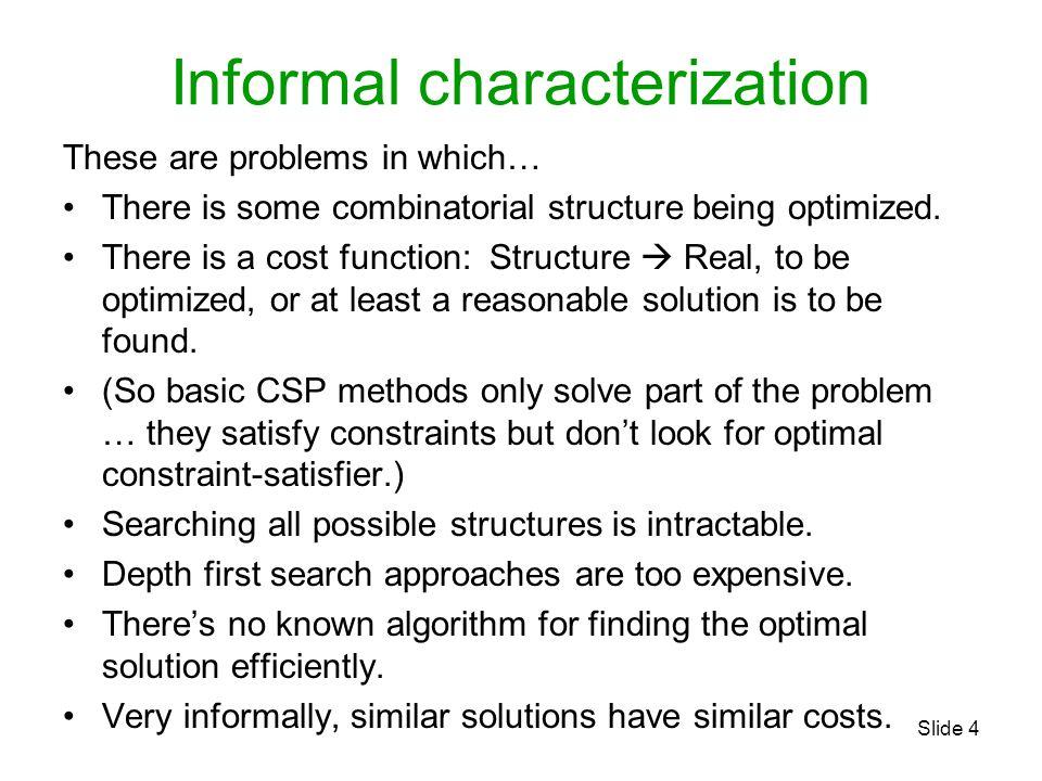 Informal characterization