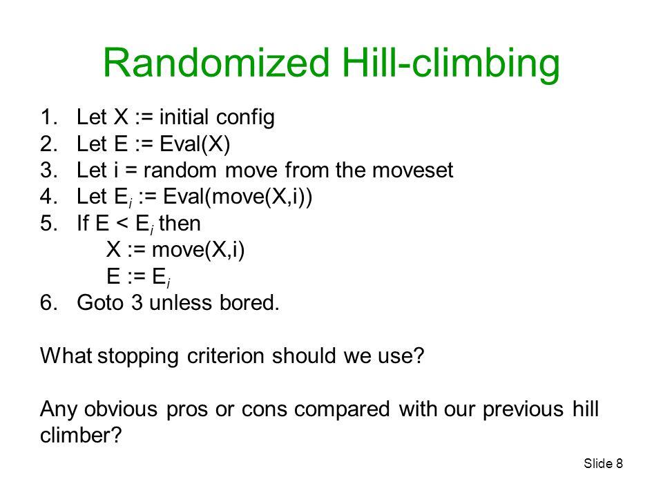 Randomized Hill-climbing