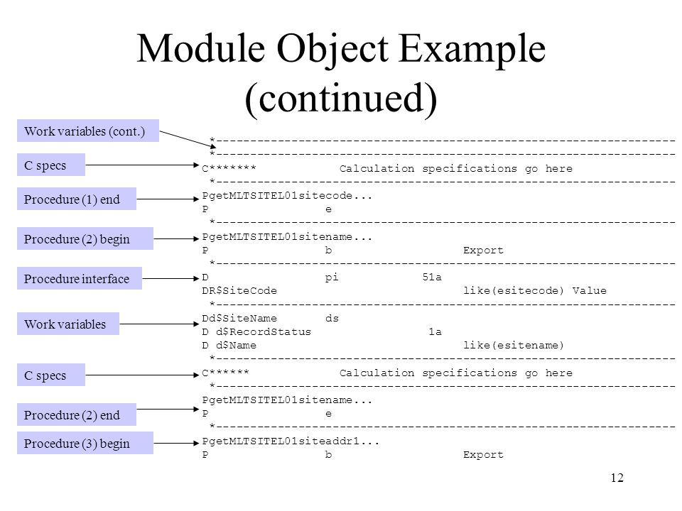 Module Object Example (continued)