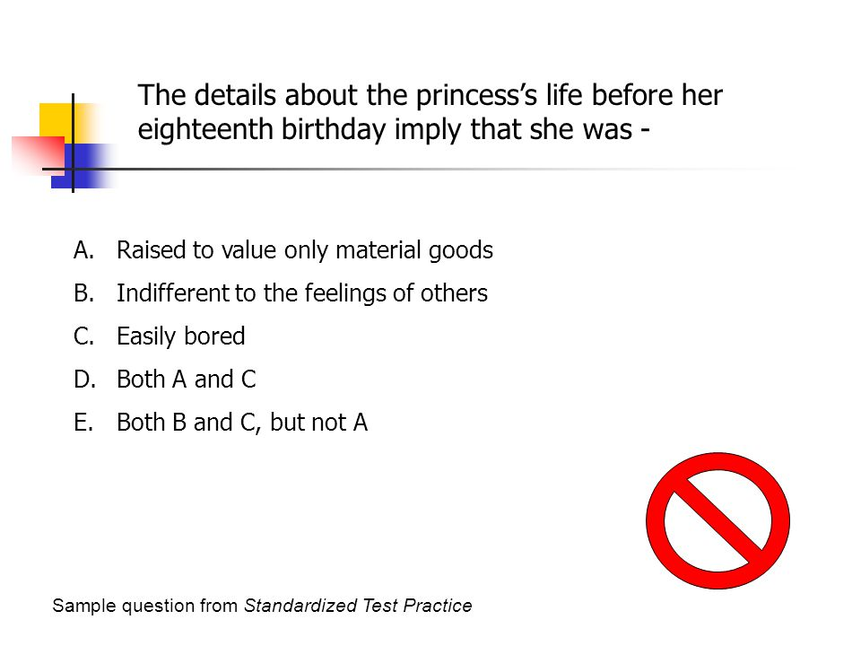 The details about the princess's life before her eighteenth birthday imply that she was -