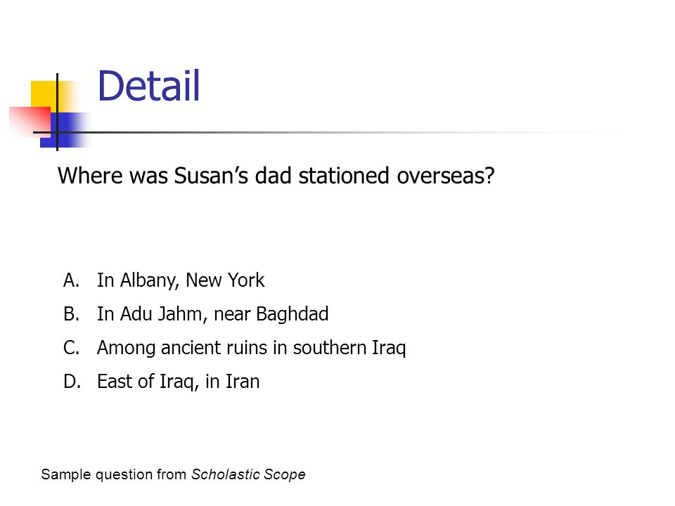 Detail Where was Susan's dad stationed overseas In Albany, New York