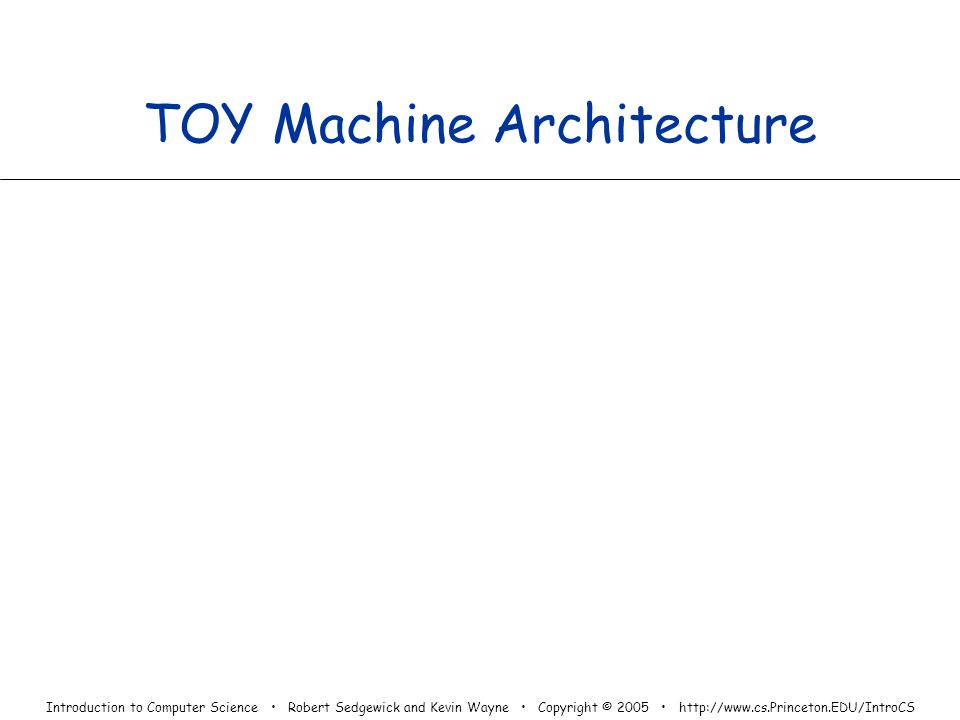 TOY Machine Architecture