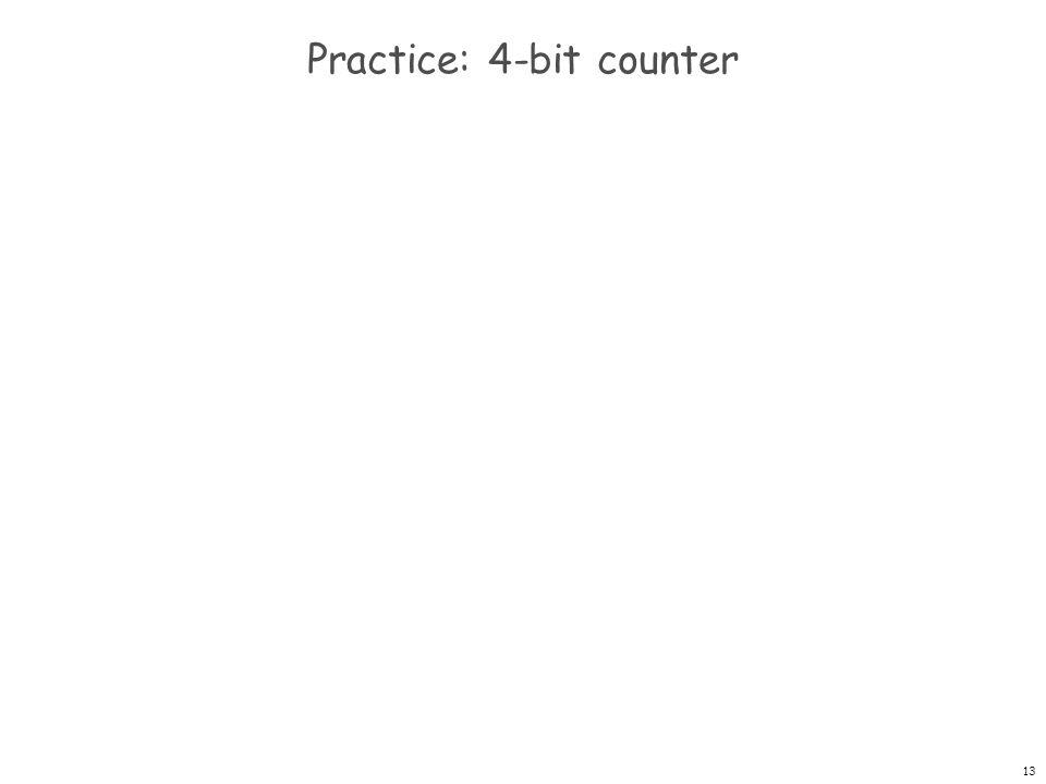 Practice: 4-bit counter