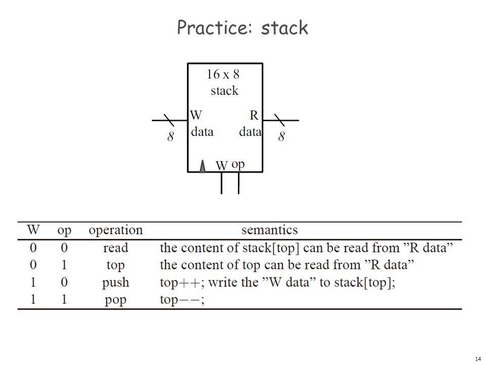 Practice: stack