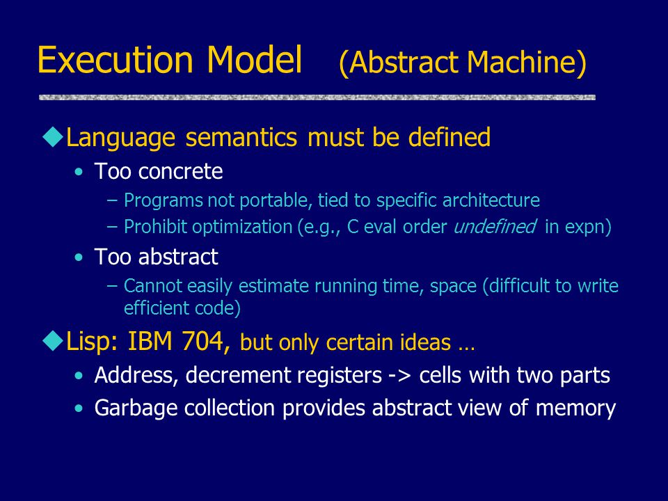 Execution Model (Abstract Machine)