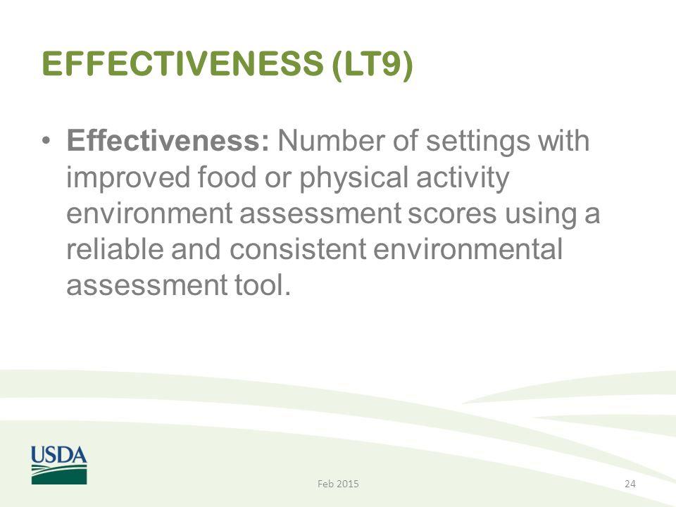 EFFECTIVENESS (LT9)