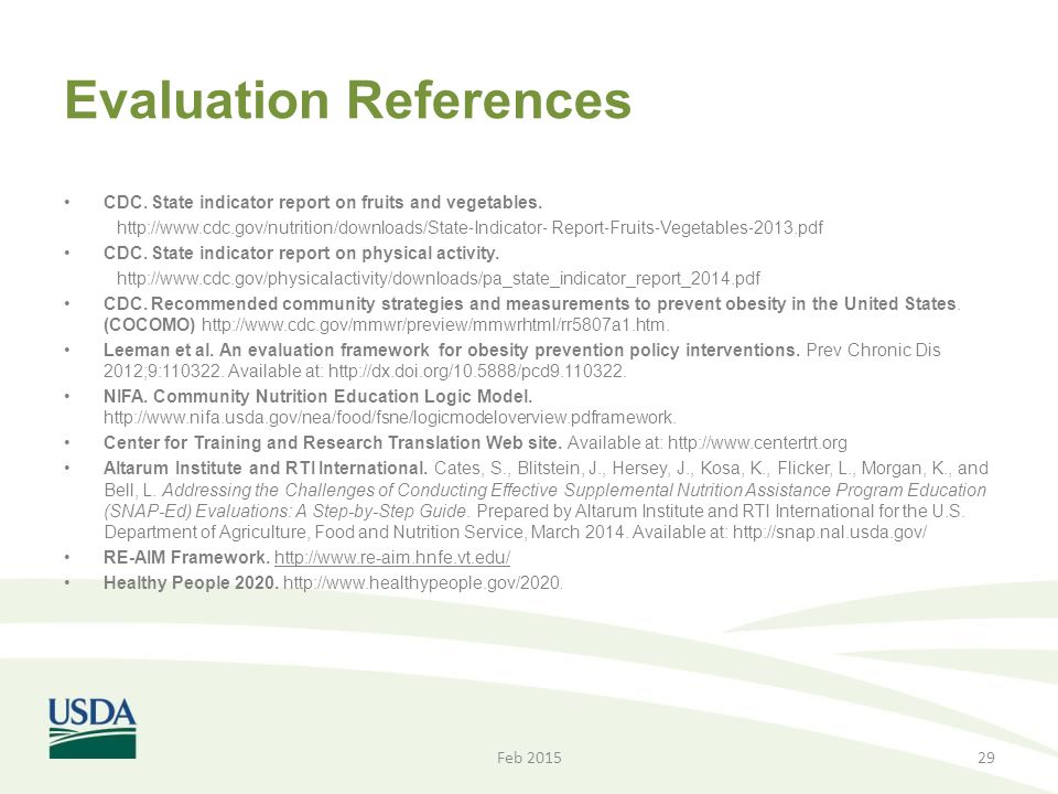 Evaluation References