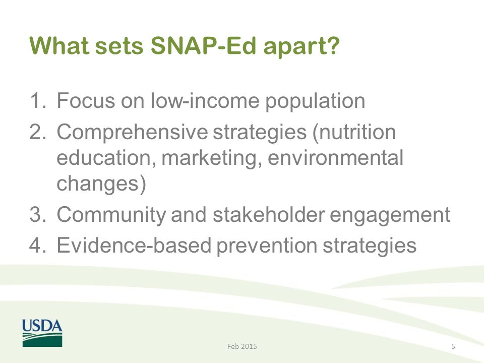 What sets SNAP-Ed apart