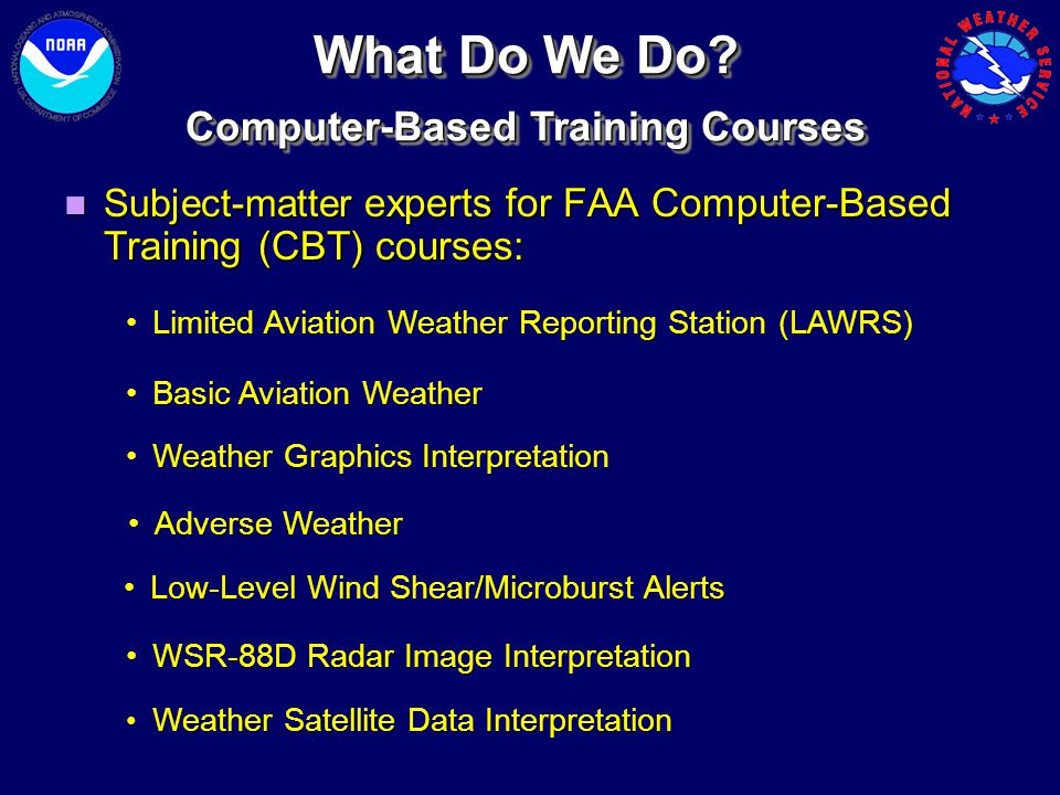 Computer-Based Training Courses