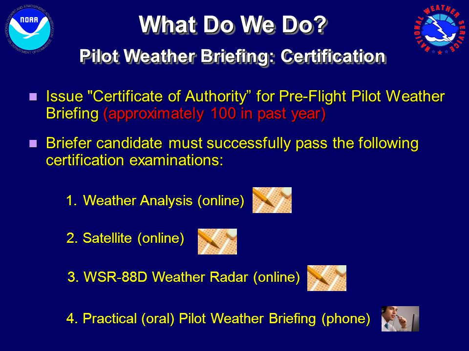 Pilot Weather Briefing: Certification