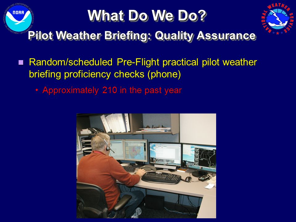 What Do We Do Pilot Weather Briefing: Quality Assurance