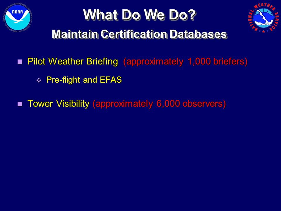 Maintain Certification Databases