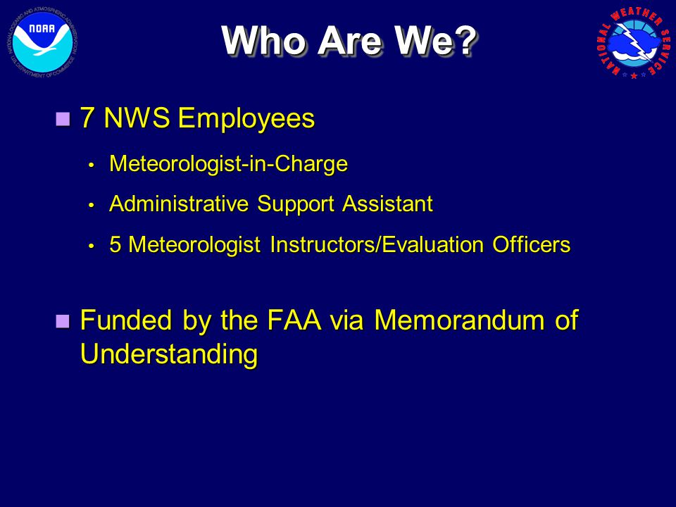 Who Are We 7 NWS Employees