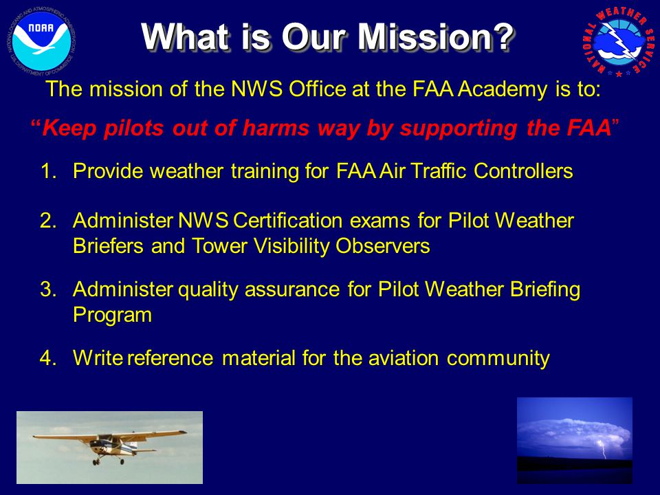Keep pilots out of harms way by supporting the FAA