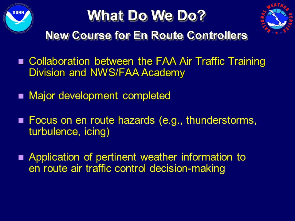 New Course for En Route Controllers