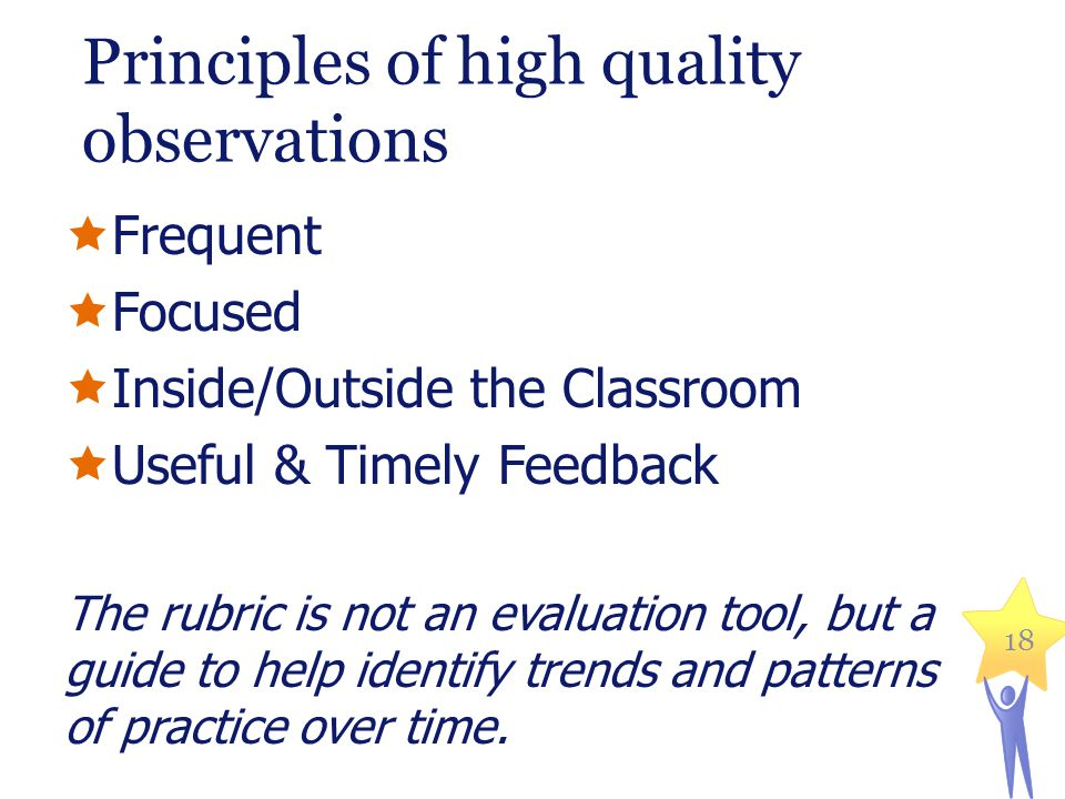 Principles of high quality observations