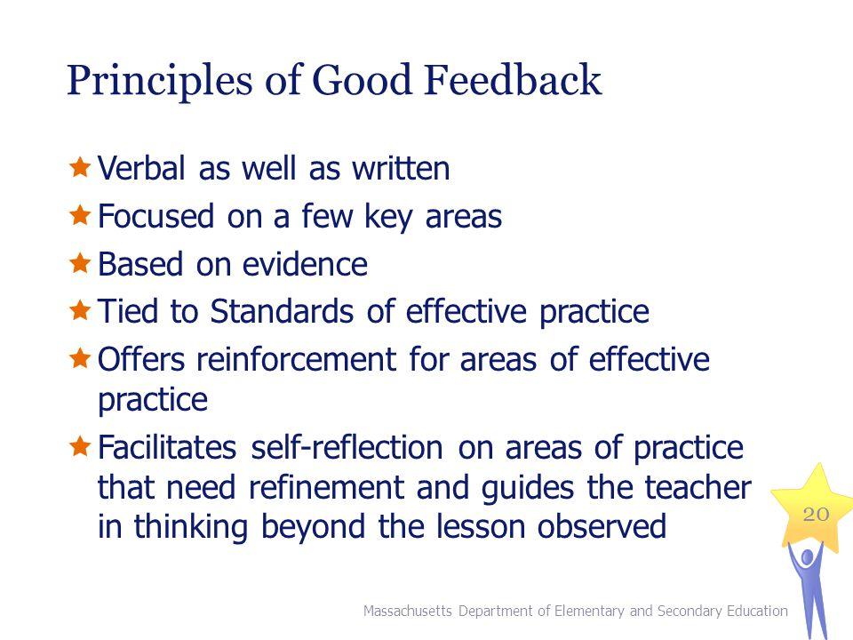 Principles of Good Feedback