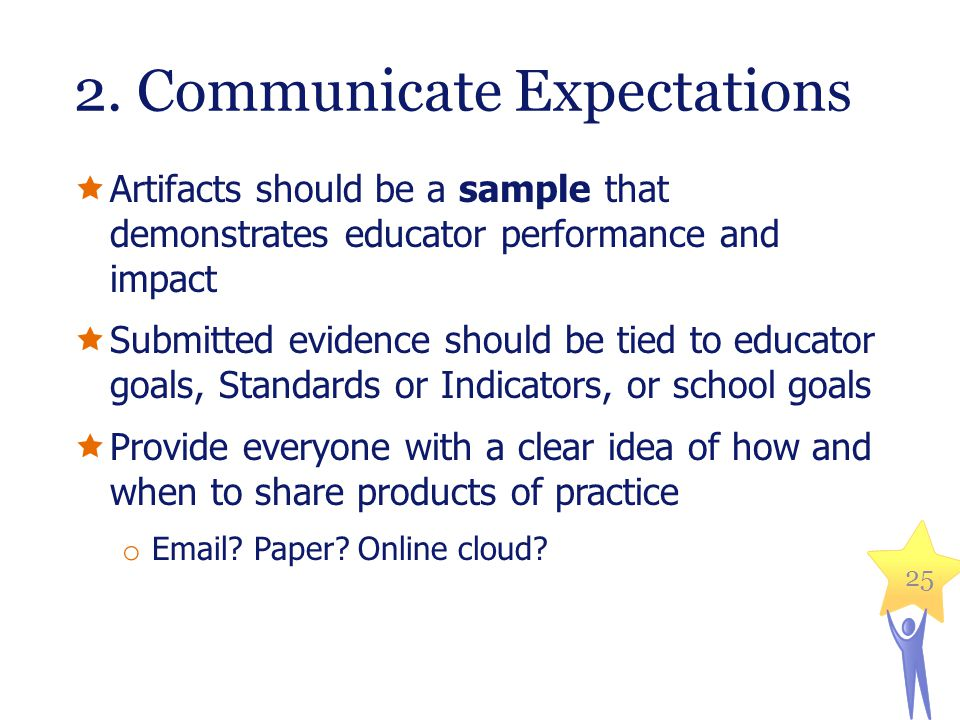2. Communicate Expectations