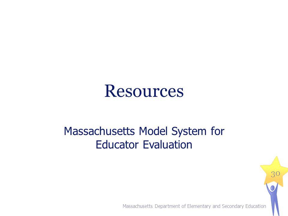 Massachusetts Model System for Educator Evaluation