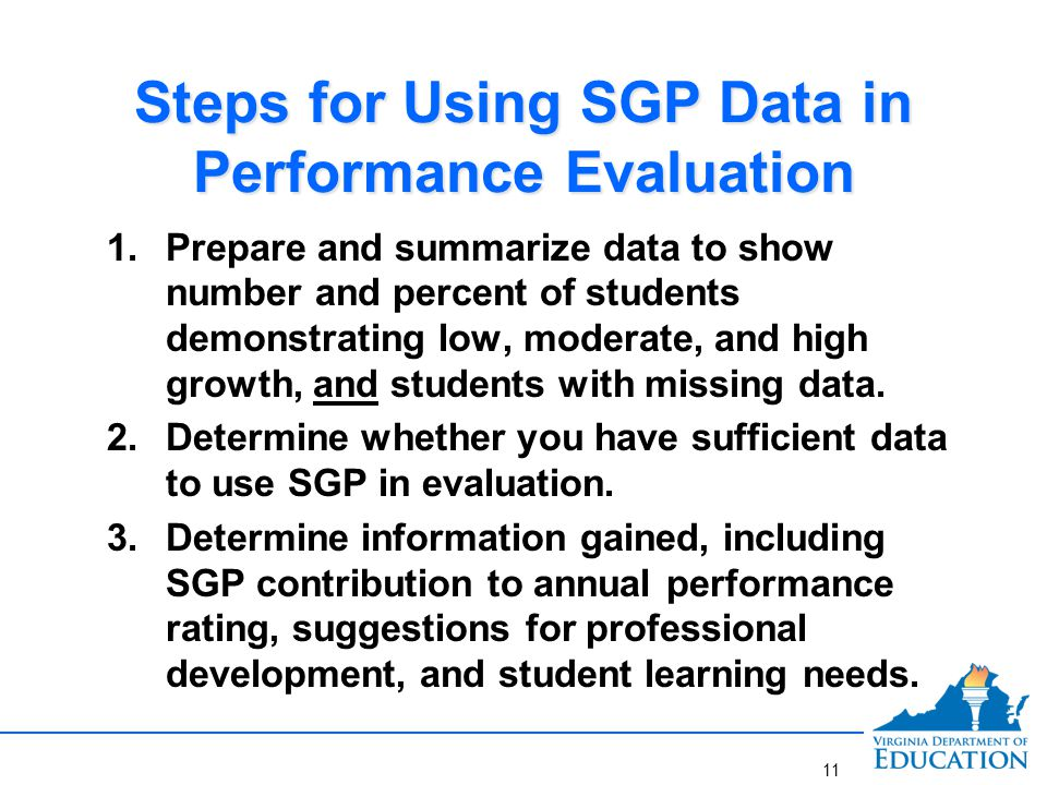 Prepare and Summarize SGP Data