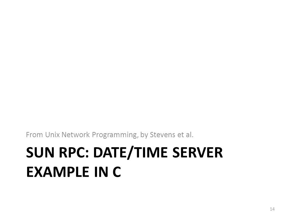 Sun RPC: DATE/Time server example IN C