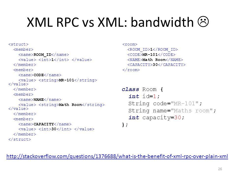 XML RPC vs XML: bandwidth 