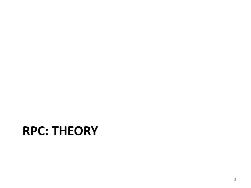 RPC: theory