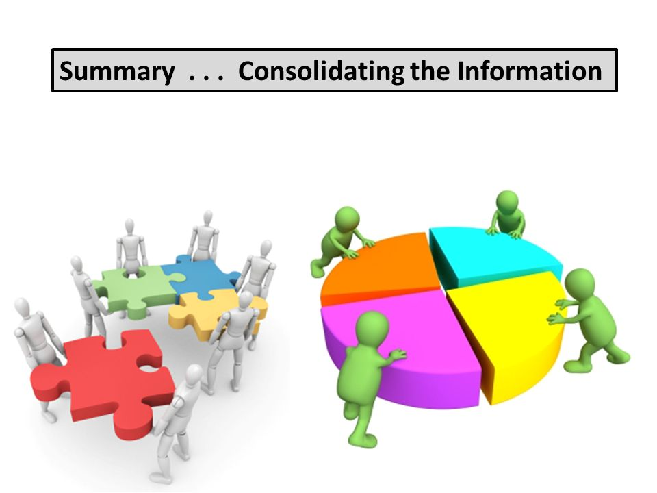 Summary . . . Consolidating the Information