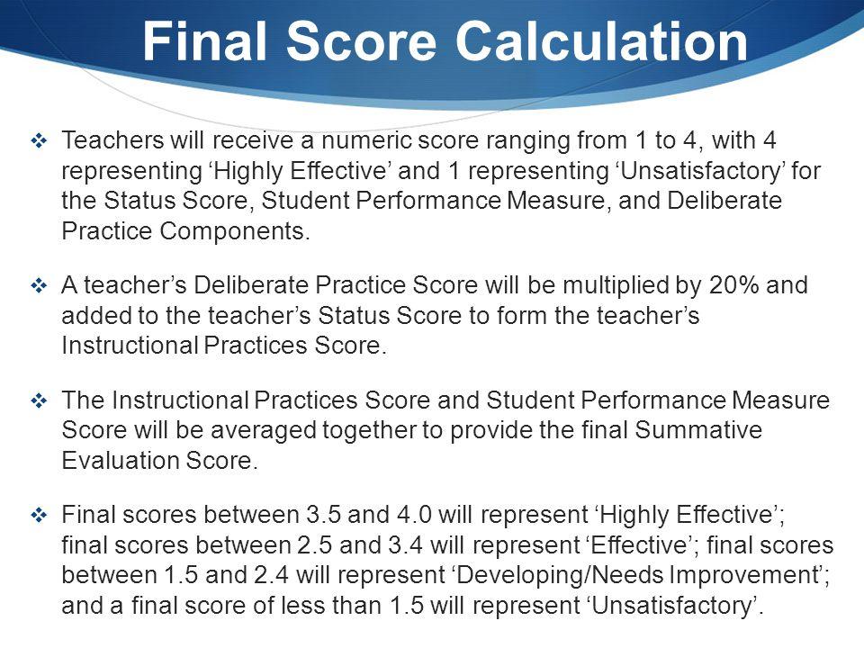 Final Score Calculation