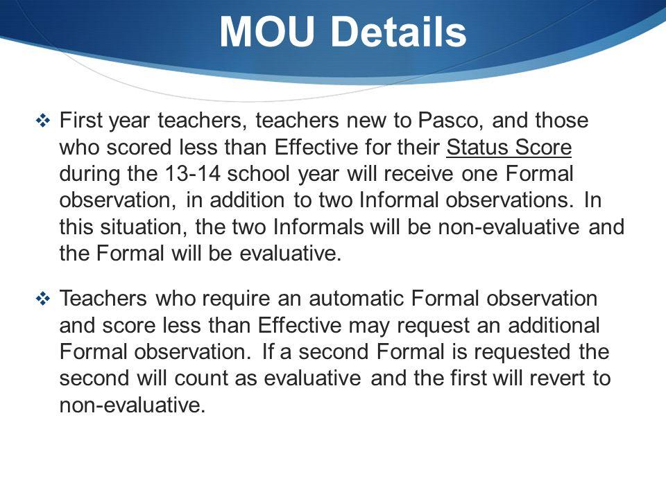 MOU Details
