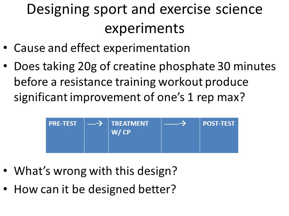 Designing sport and exercise science experiments