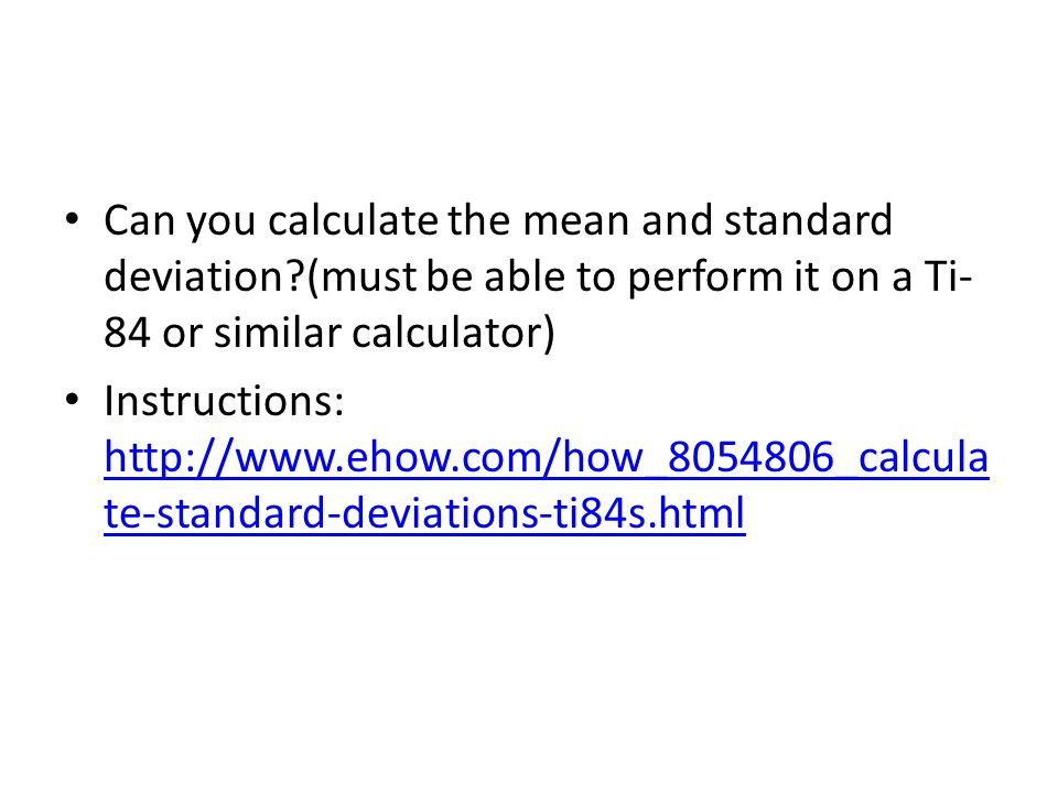 Can you calculate the mean and standard deviation