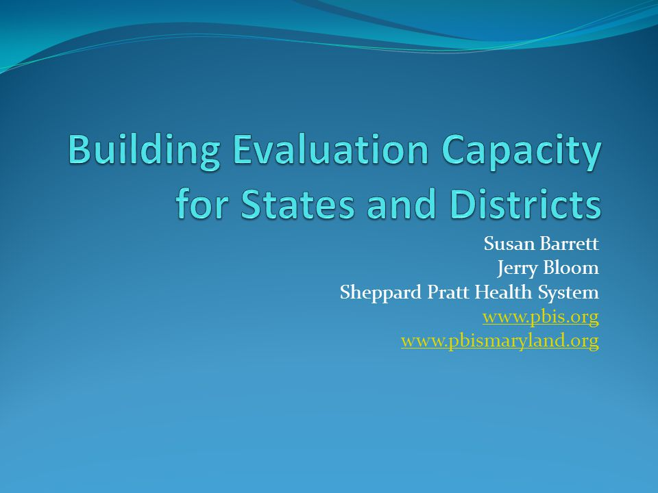 Building Evaluation Capacity for States and Districts