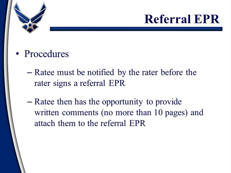 Referral EPR Procedures