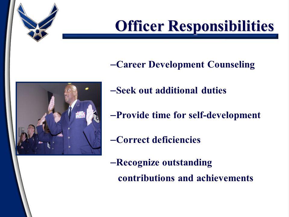Officer Responsibilities