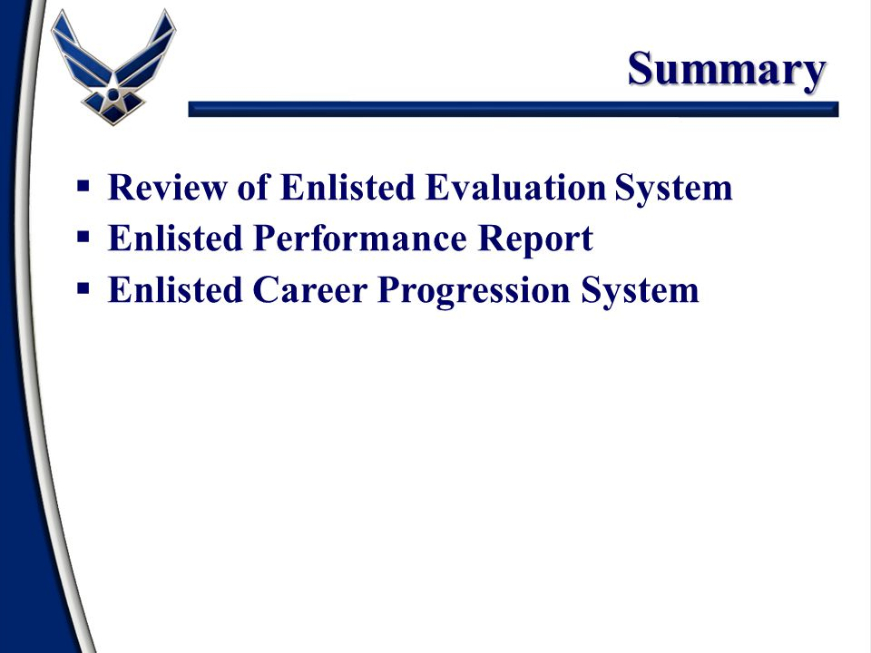 Summary Review of Enlisted Evaluation System