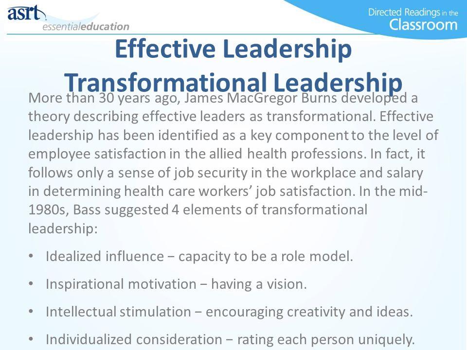 Effective Leadership Transformational Leadership