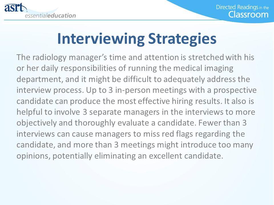 Interviewing Strategies