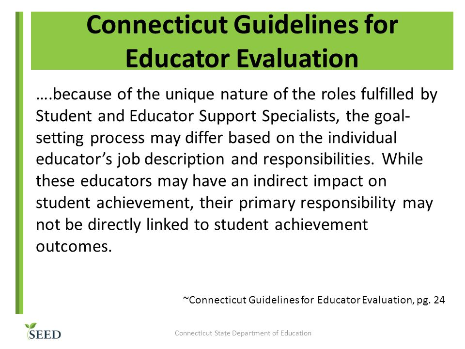 Connecticut Guidelines for Educator Evaluation