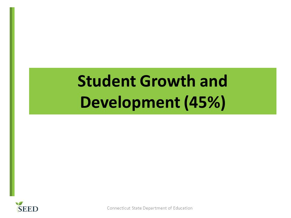 Student Growth and Development (45%)